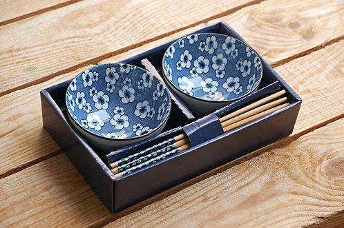 Zestaw 2 ozdobnych misek Qinghua - 4 WZORY