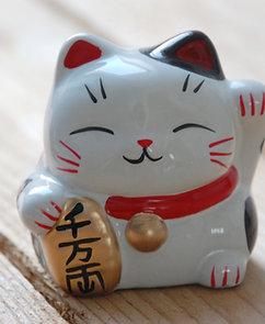 Kot szczęścia witający skarbonka maneki-neko 1