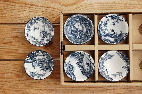 Zestaw miseczek ceramicznych Qinghua