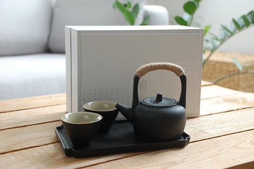 Czarny zestaw japoński do herbaty PREMIUM