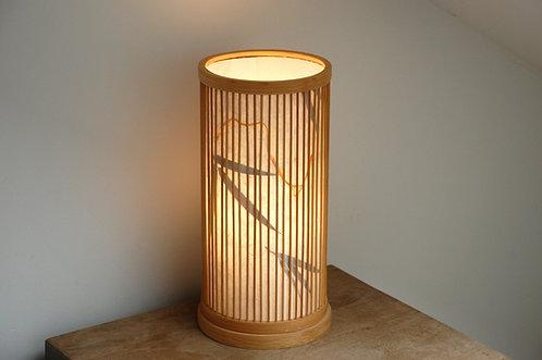 Lampa bambusowa chińska stojąca BAMBUS
