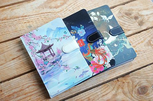 Piękne zeszyty notesy CZARUJĄCE CHINY na magnes 3 wzory
