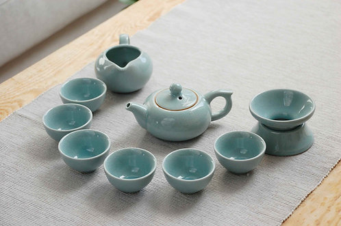 Niebieski zestaw do herbaty 9 elementowy GE YAO