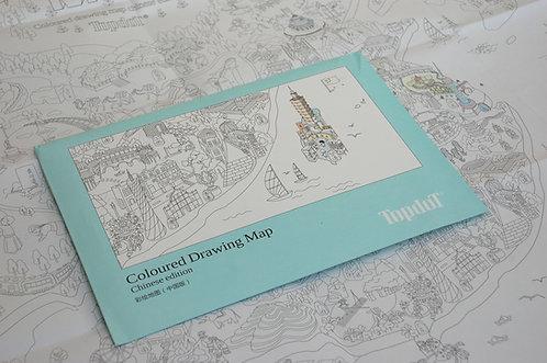 Mapa do kolorowania CHINY 95 x 66 cm