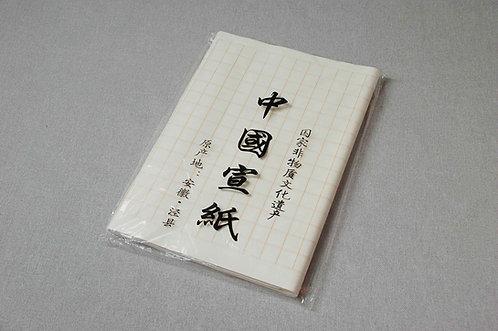 Papier w małą złotą kratę do ćwiczenia kaligrafii małe znaki KAISHU