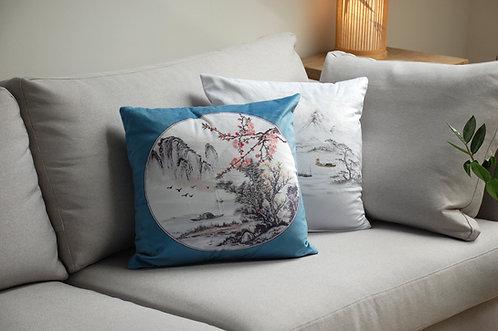 Ozdobna poduszka z poszewką w chińskie wzory CHIŃSKI WIATR