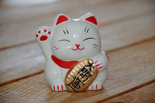 Kot szczęścia witający skarbonka maneki-neko 2