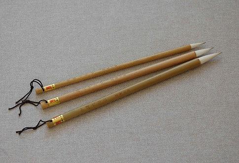 """Zestaw trzech pędzli """"Naturalny bambus"""""""