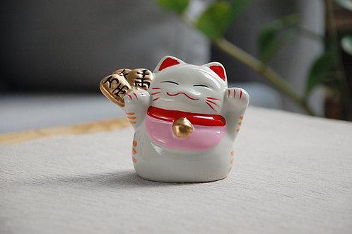 Kot szczęścia witający skarbonka maneki-neko PIENIĄDZE