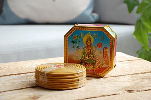 Kadzidełka buddyjskie świątynne - okrągłe, duże - 4 ZAPACHY