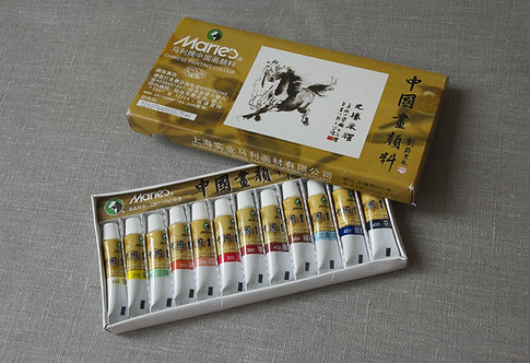 Farby do malarstwa chińskiego; 3 rodzaje