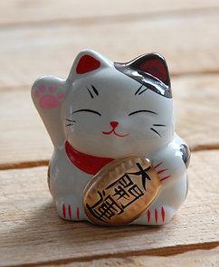 Kot szczęścia witający skarbonka maneki-neko 3