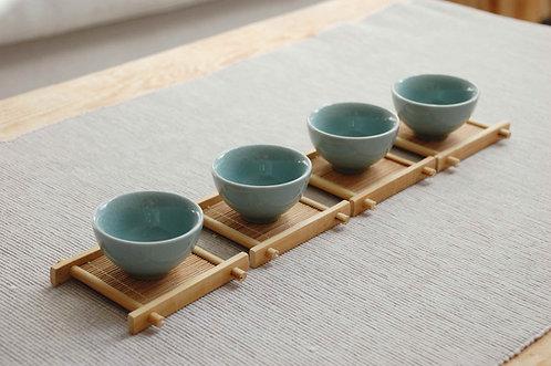 Bambusowe podstawki do czarek