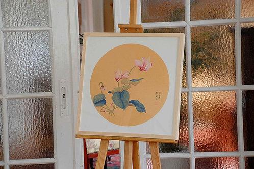 Chiński obraz ręcznie malowany GONGBI - Orchidea