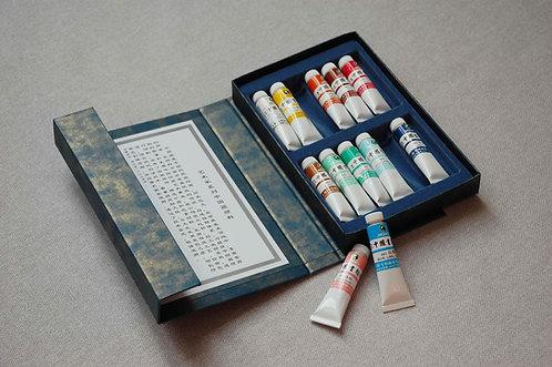 PREMIUM Farby do malarstwa chińskiego 12 kolorów 9 ml