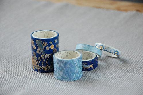 Zestaw 5 ozdobnych japońskich papierowych taśm klejących 3 WZORY