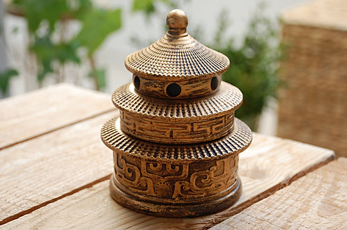 """Kadzielnica """"chińska pagoda"""" w kolorze miedzianym"""