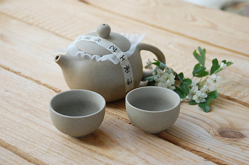 Ceramiczny komplet do herbaty z etui