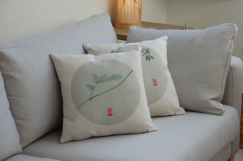 Ozdobna poszewka na poduszkę LEN BAWEŁNA Chińskie Wzory