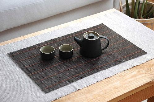 Bambusowa mata do herbaty z Dehua ciemna