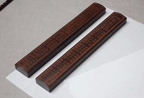 Drewniane przyciski ciężarki do papieru