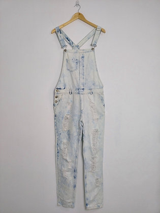 Jeans macacão - tam M