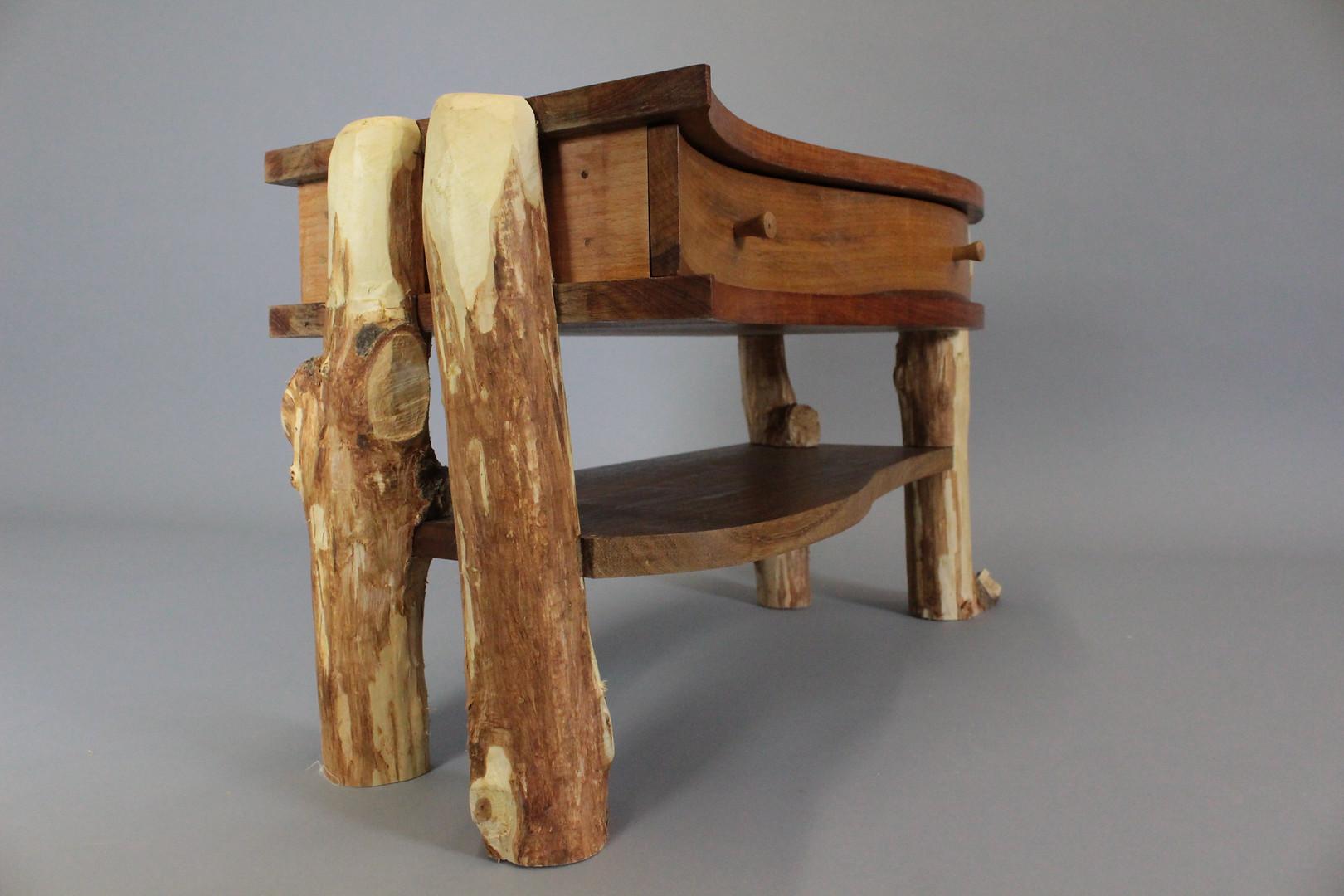Re-purposed Rustic legged side table