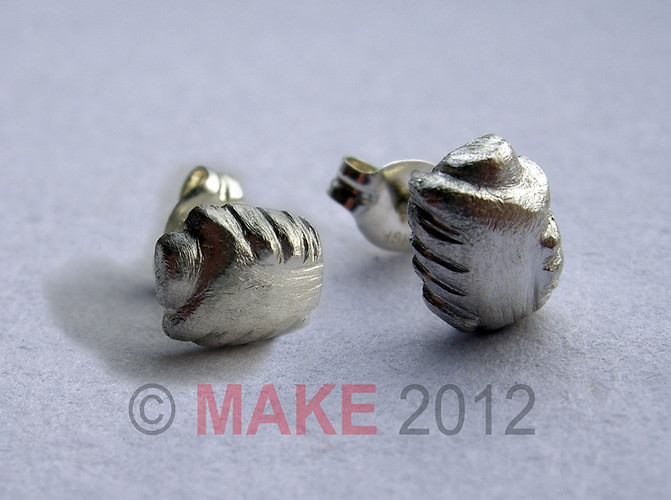Silver Helping Hands Ear Studs