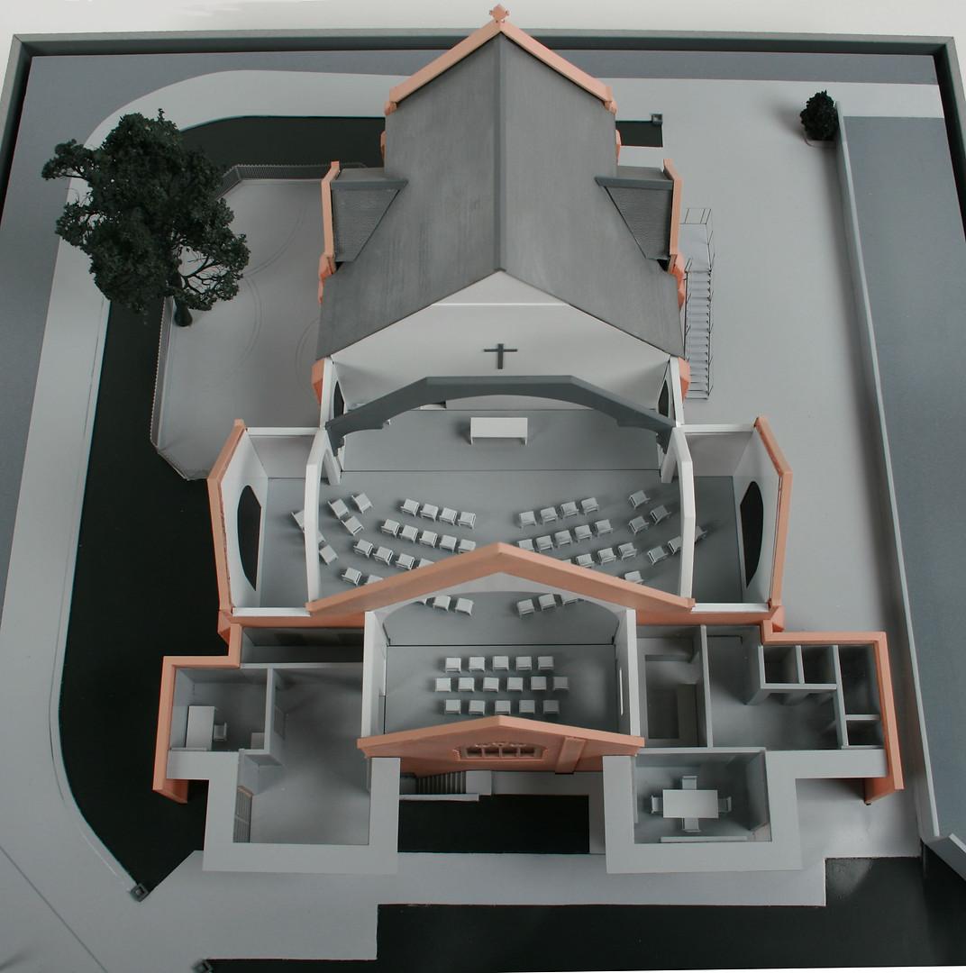 Didsbury Baptist Church - Consultation Presentation Model - DeSantis Philipson Architects