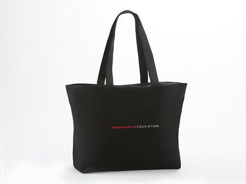Scholastic Canvas Zippered Tote