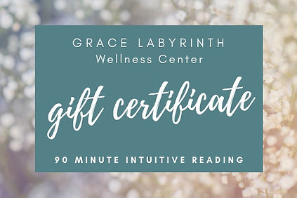 90 Minute Intuitive Reading Gift Ceritif