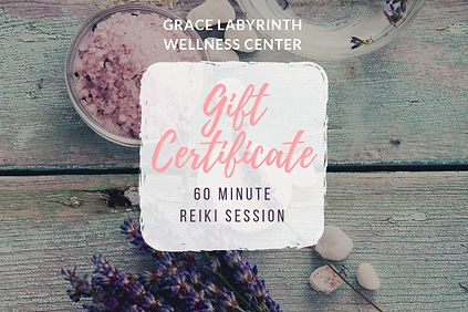 60 Minute Reiki Session Gift Certificate