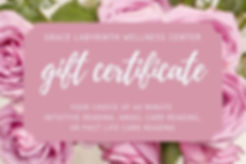 Pink Floral Watercolor Spa Gift Certific