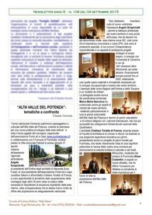 Alta Valle del Potenza pubblicazione sul settimanale del Circolo Aldo Moro.
