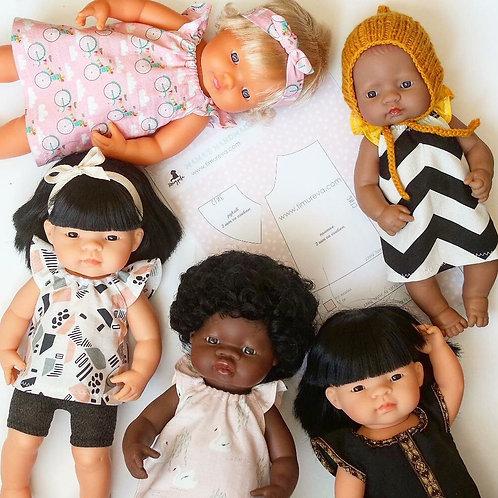 Выкройка платья-туники для кукол Miniland