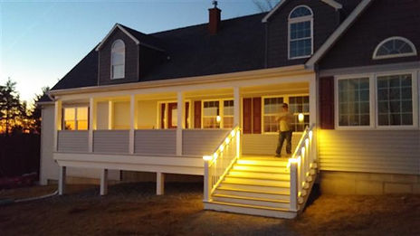lighted porch modular cape style
