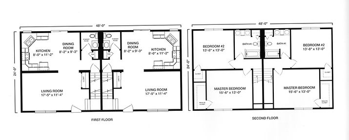 duplex townhome modular style