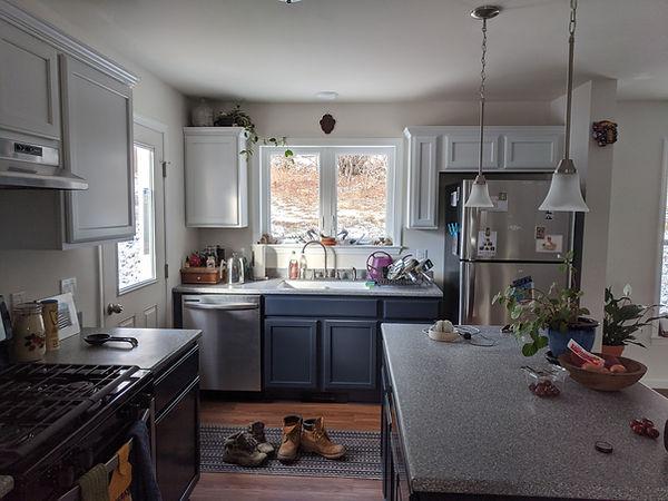 multi color kitchen cabinets blue white