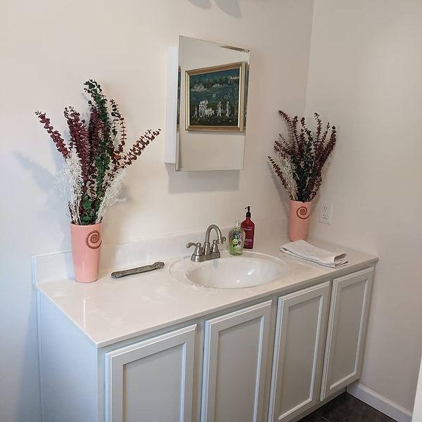 white bathroom vanity cultered marble vanity top