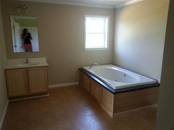 master bathroom modular tub