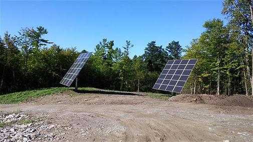 solar panels modular home build