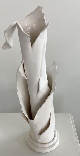 Porcelain Long-Stem Flower Vase