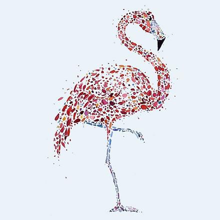 Shawn Dell Joyce - Pointillist Flamingo AOR.png