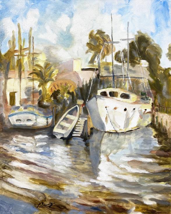 Sail Boat Plein Aire
