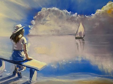 Shawn Dell Joyce - Figures on the beach