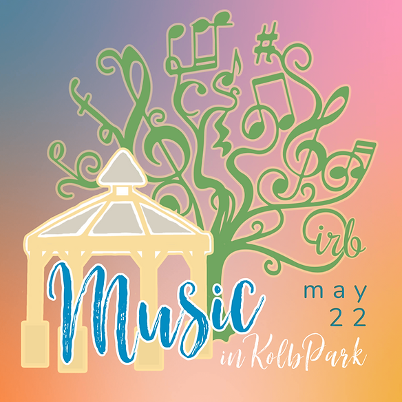 Gazebo Music Logo with Musical Tree Kolb