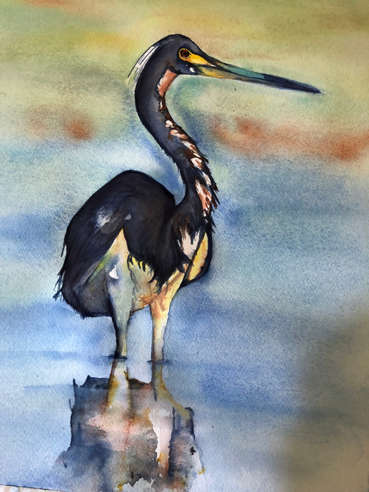 Deborah Bernard watercolor water bird.JPG