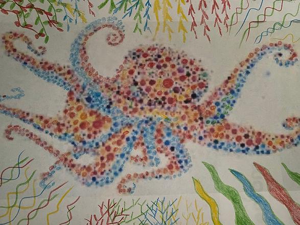 Shawn Dell Joyce Octopus Pointillist.JPG