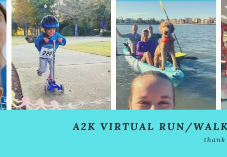 The A2K Virtual Run/Walk Challenge Results Are In!