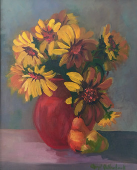 Sunflowers in Red